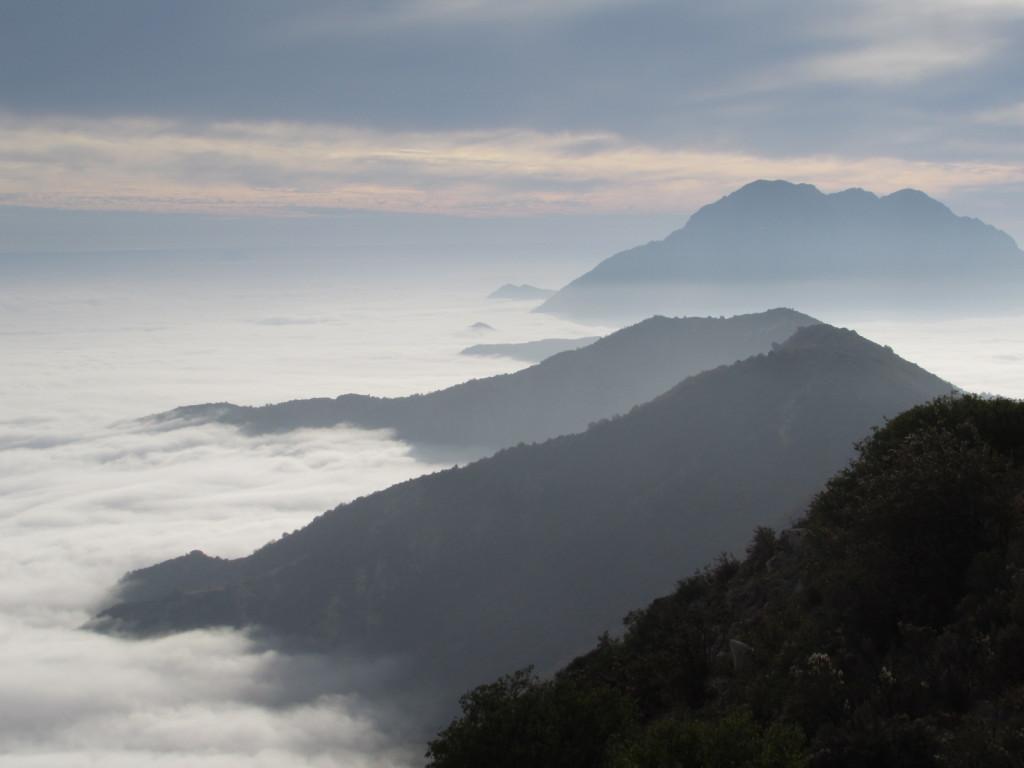 Vista a La Campana desde Cerro El Roble