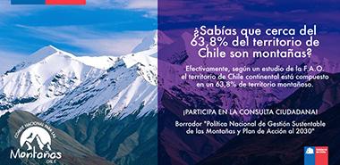 BORRADOR POLÍTICA NACIONAL PARA LA GESTIÓN SUSTENTABLE DE LA MONTAÑA EN CHILE Y PLAN DE ACCIÓN AL 2030