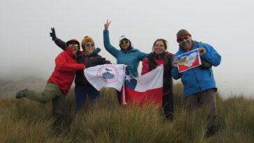 Intercambio CHILE-ECUADOR, VOLCAN CORAZON.