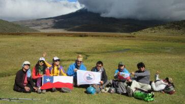 Intercambio CHILE-ECUADOR, VOLCAN RUMIÑAHUI.