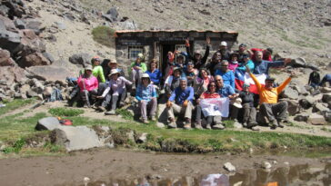 Intercambio CHILE-ECUADOR, Trekking Refugio Plantat